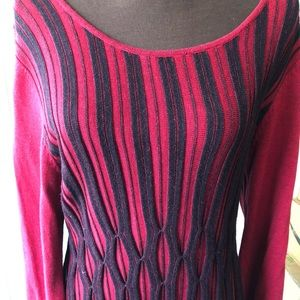 Style & Co Sweater Dress 1X Red and Black